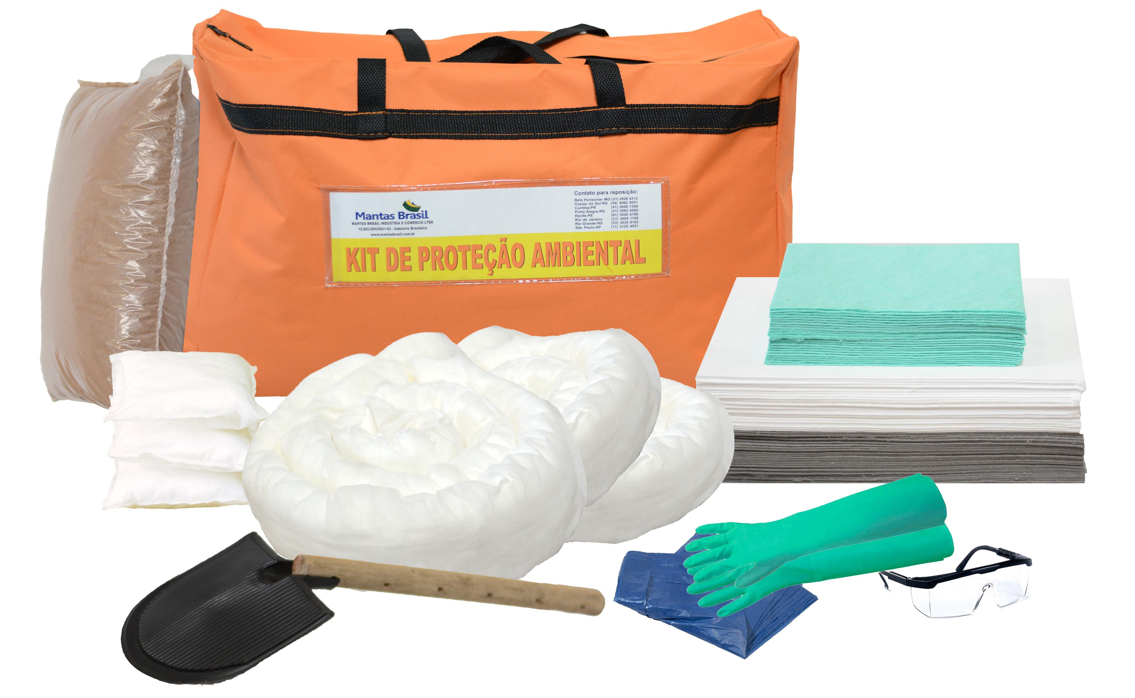Kit Proteção Ambiental 50 litros – Linha Branca – Bolsa Laranja ... bfc8984818