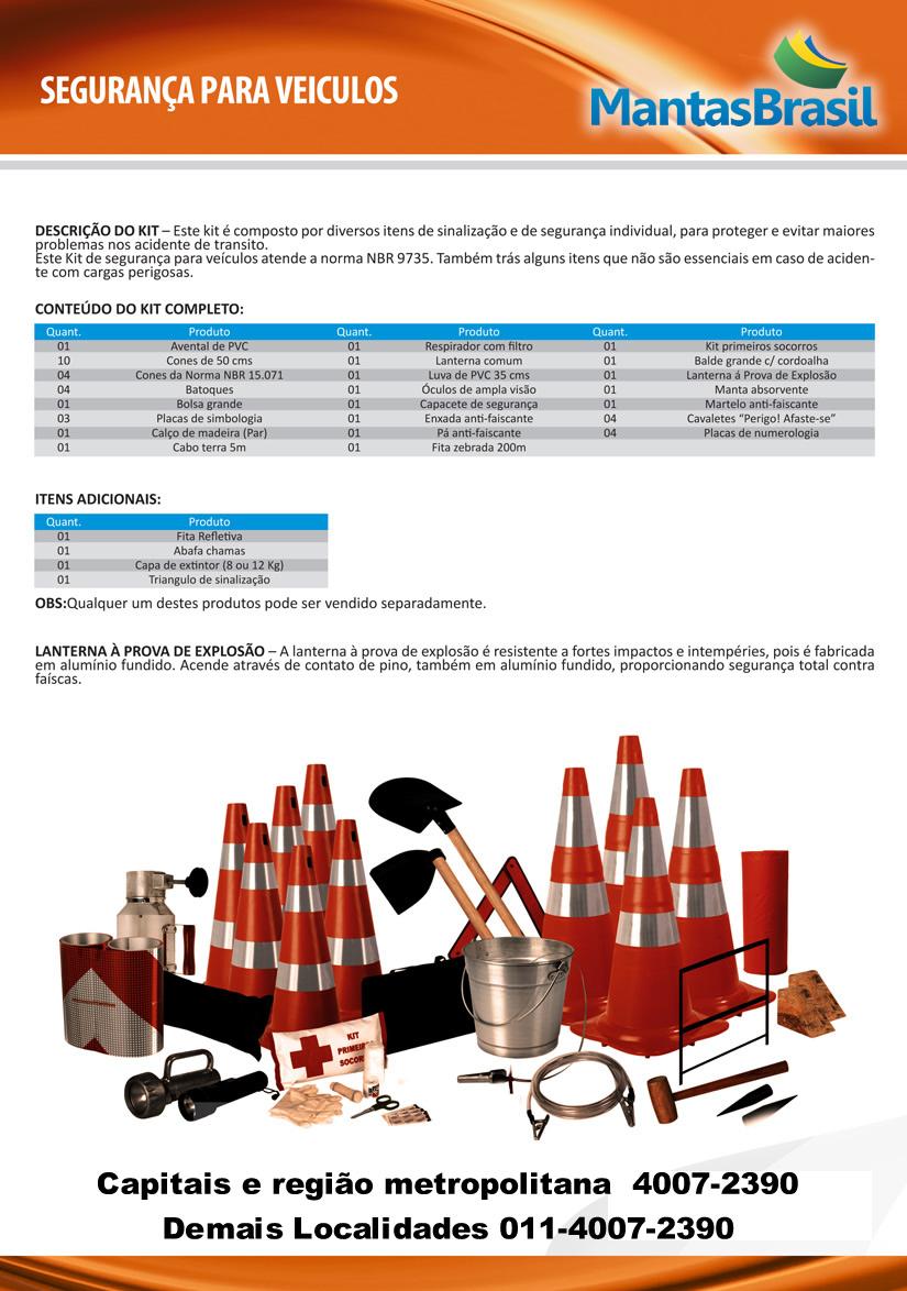 Kit Emergência NBR 9734 9735   Mantas Brasil - Proteção Ambiental ... 78ccd006da